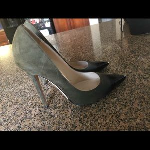 Jimmy Choo Anouk 120mm Olive Suede/Black